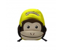 Tas Lino Kids Backpack-Monkey Style Yellow - Tas Anak
