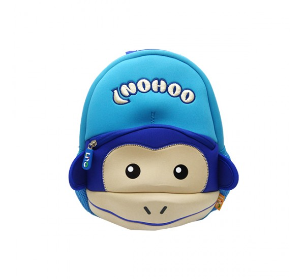Tas Lino Kids Backpack-Monkey Style Blue - Tas Anak