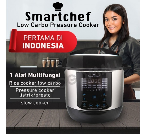 Smartchef Low Carbo Rice Cooker Multifungsi Presto & Slowcooker